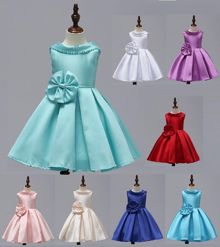 824a0b62e787 SATIN- dievčenské spoločenské šaty 3-12r.